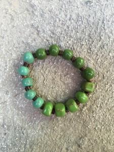 Ombre Bracelet- Green Still