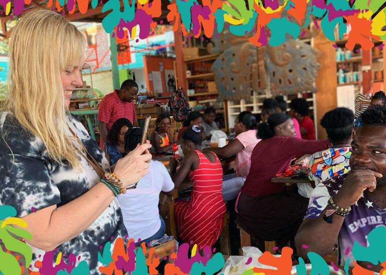 Shelley Jean at Papillon Marketplace in Haiti